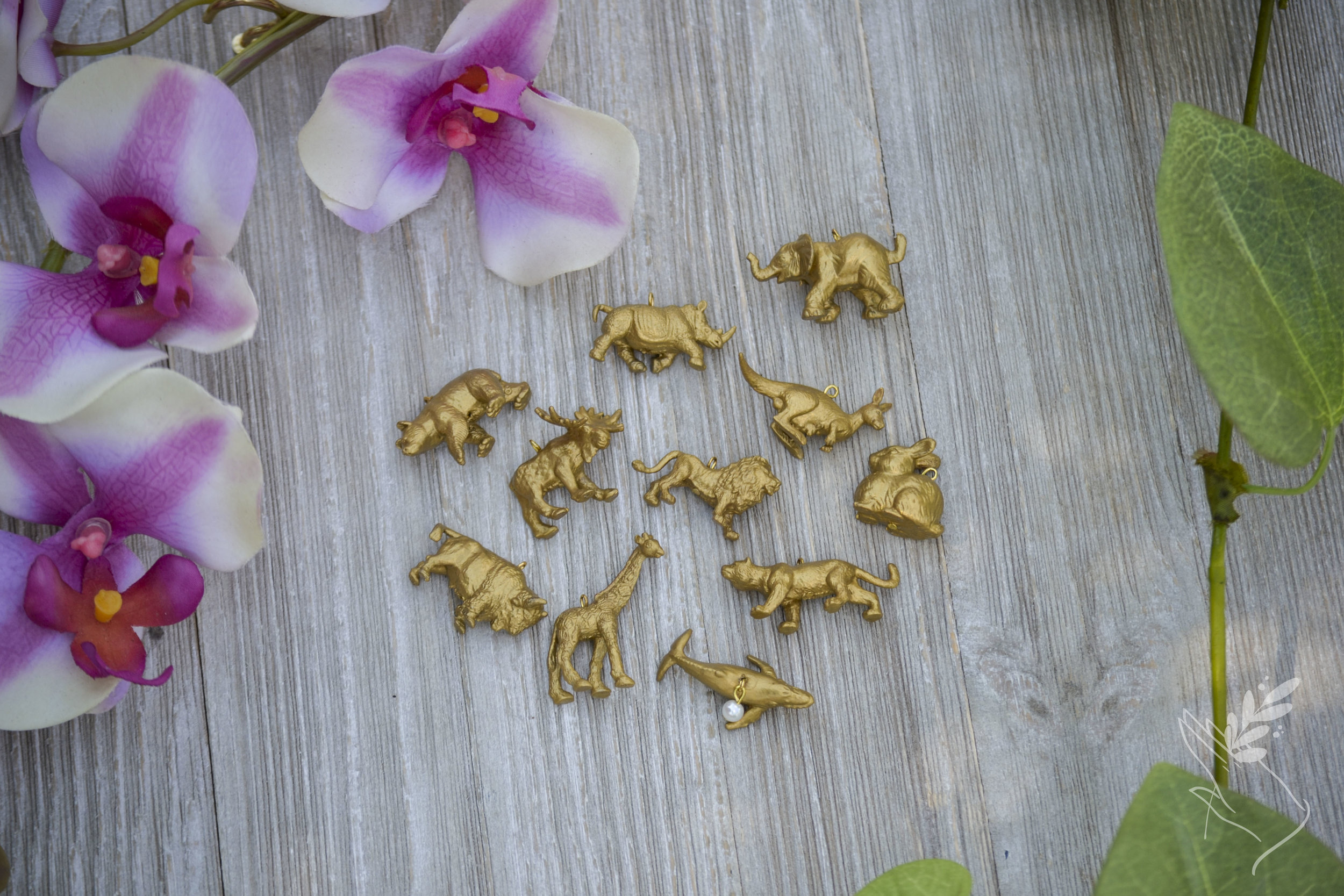 Golden Animal Charm Necklace