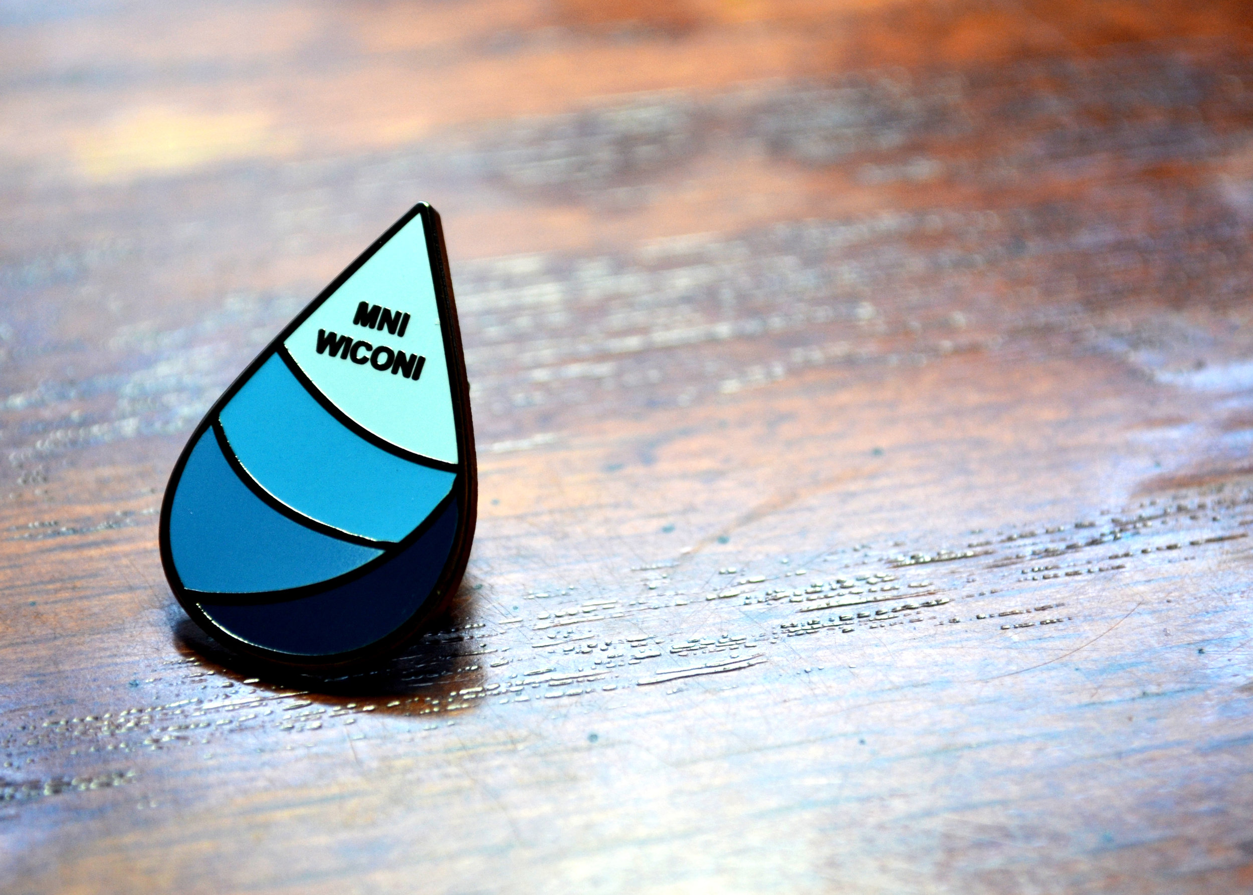 Water is Life Charity Pin