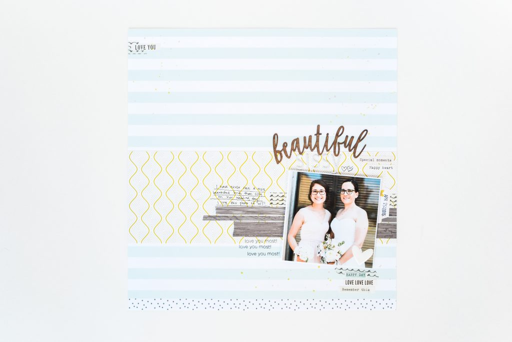 """Beautiful"" Layout by Suzanna Stein - Noodoso"