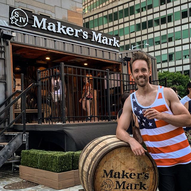 Love being an NYC ambassador for @makersmark Thanks and cheers to Rob, Jeff and the #MakersMark team! #🥃 (46 neat) #markofthemaker #whiskeyman