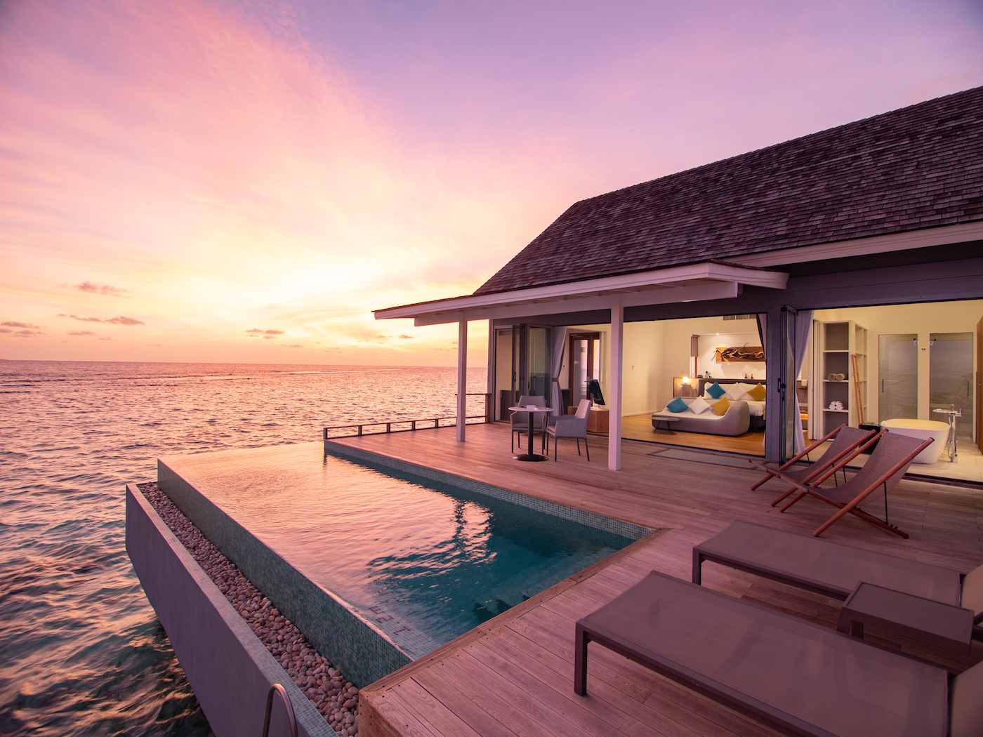 Thundi Water Villa på Kuramathi Maldives