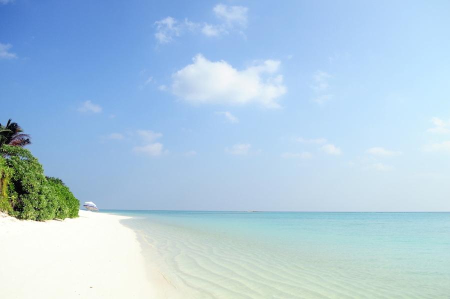 Stranden på Thoddoo