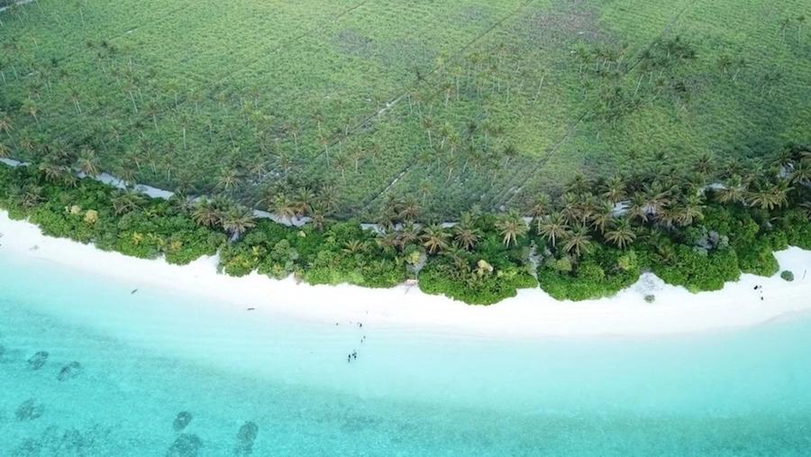 Dronebillede fra Thoddoo Beach