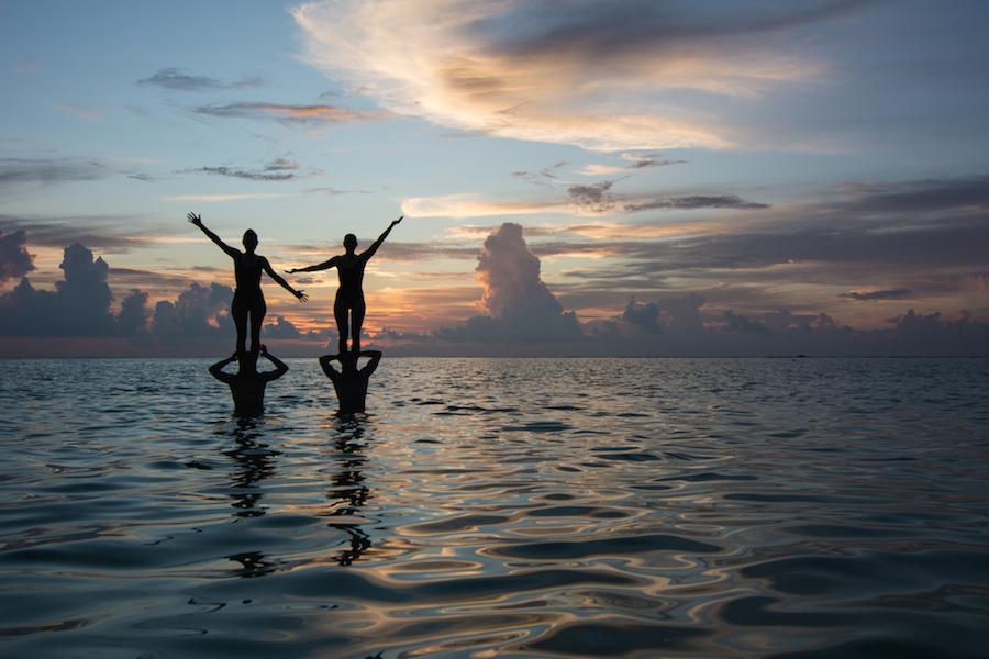 Solnedgang fra Thoddoo Beach
