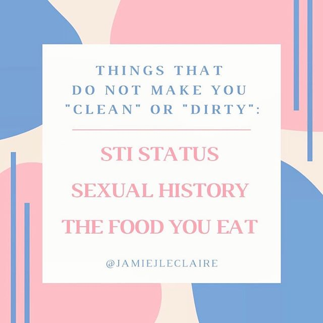 A loving reminder 💕 . . @jamiejleclaire  #language #sexpositive #clean #dirty #sti #sexuality #sexeducation #reminder #withlove