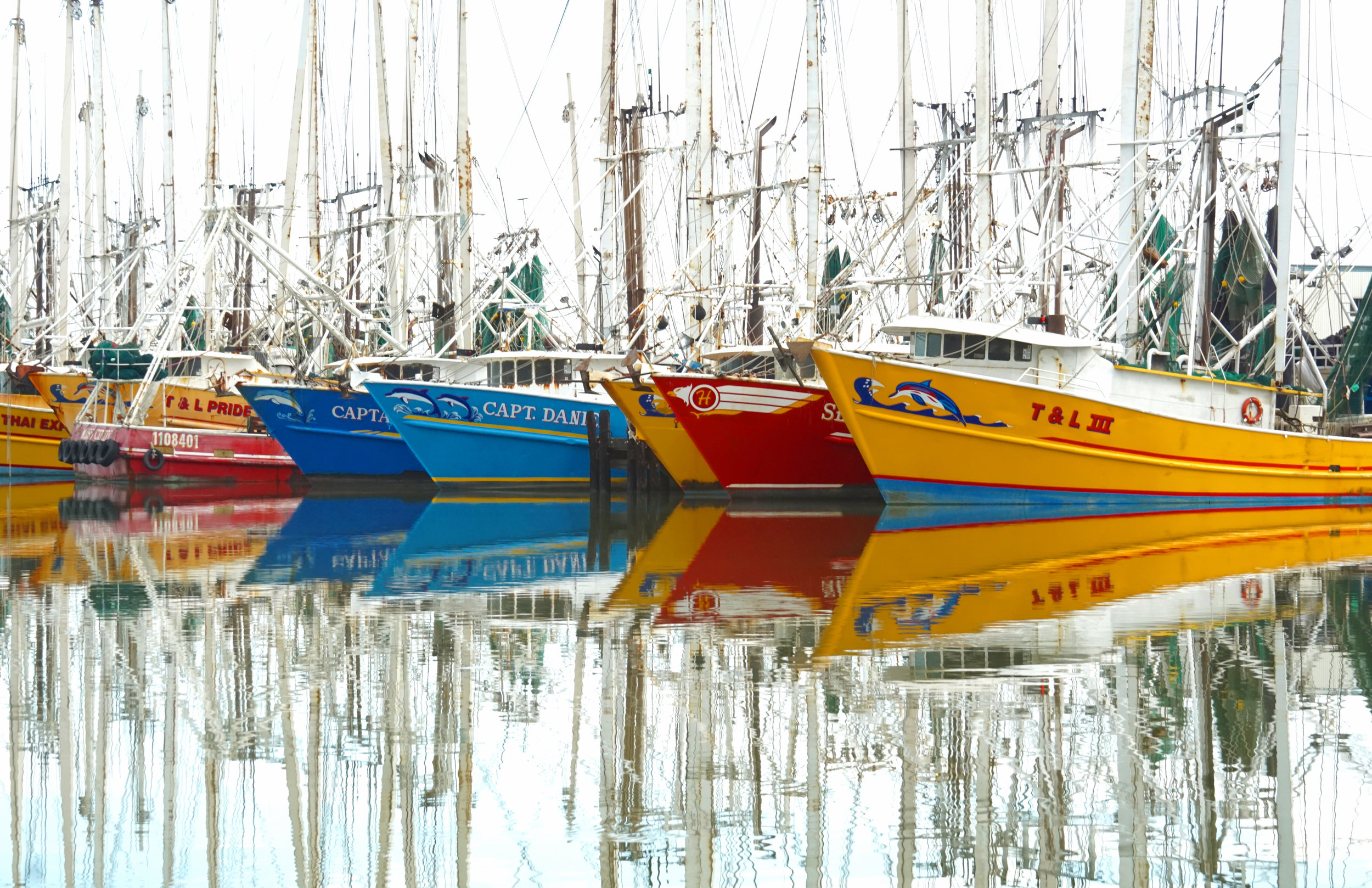 Shrimp Boat Reflections.