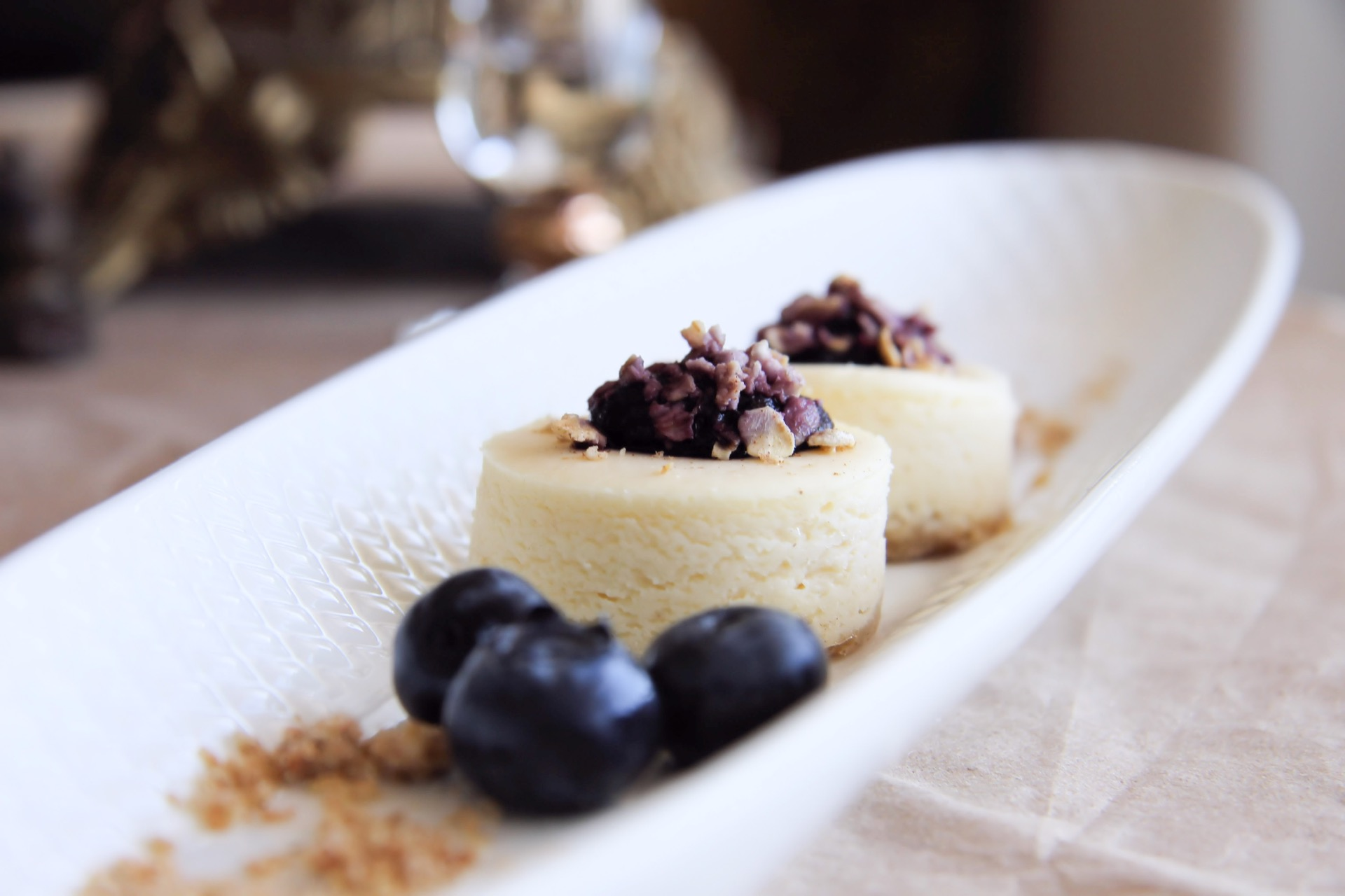 Copy of Petite Blueberry Crumble Cheesecake