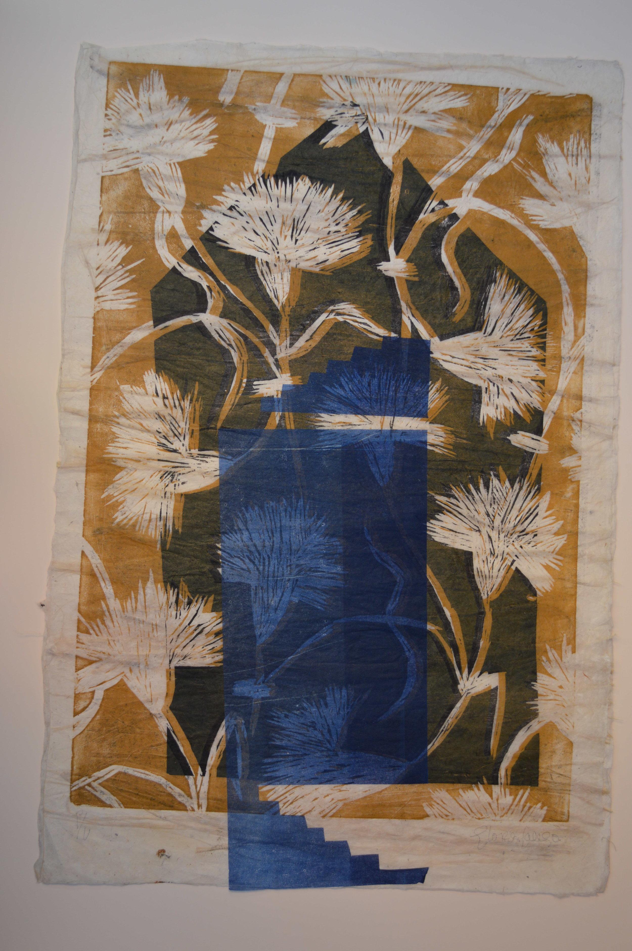 Casa claveles azul