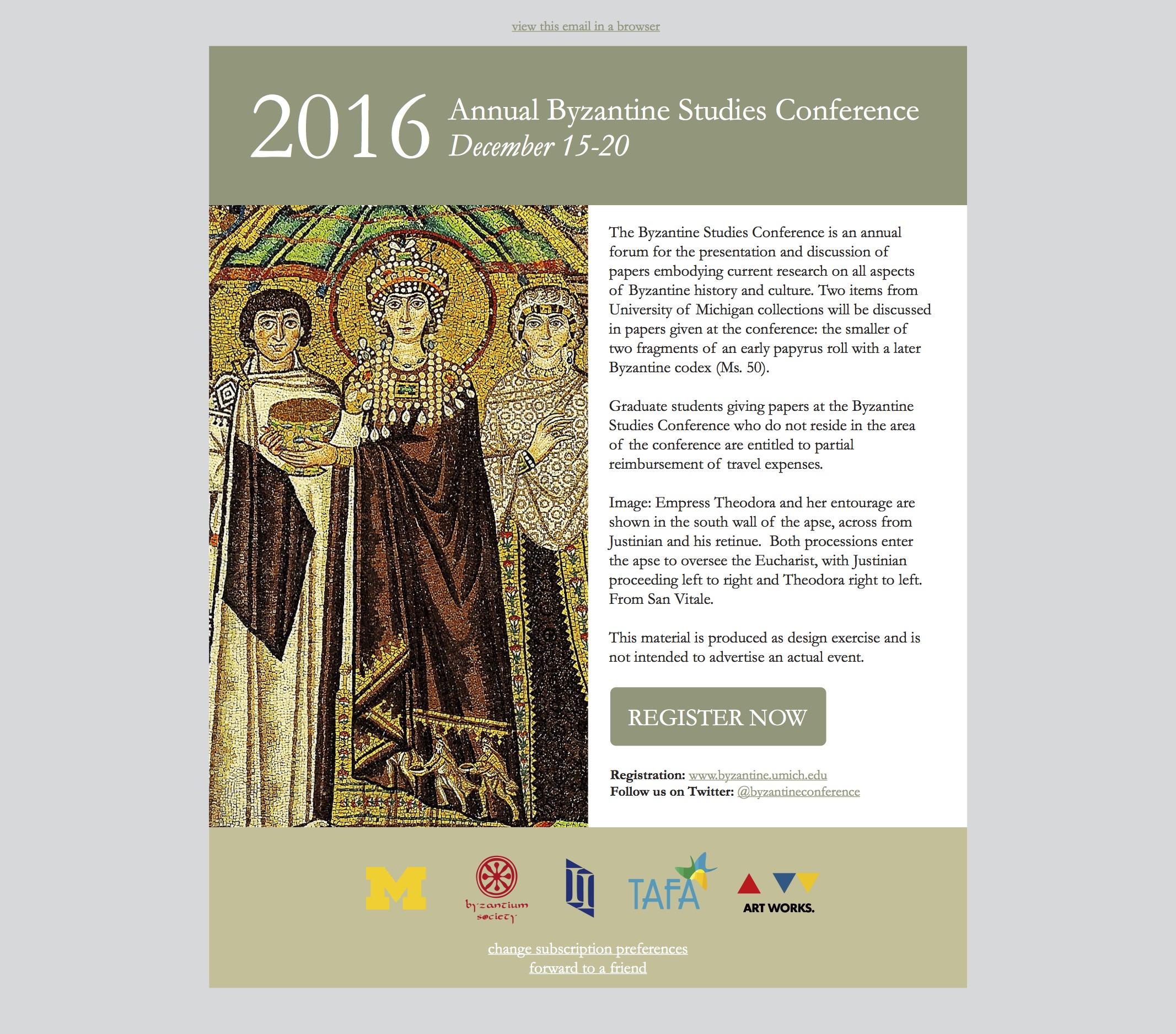 Conference invitation email design