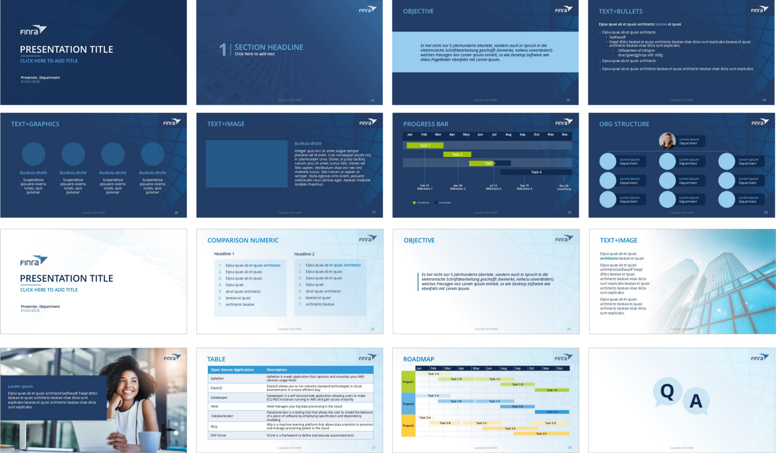 Snapshot of the Template