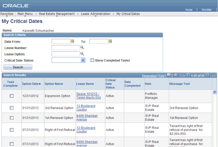 PeopleSoft interface. (NOTE: It is not the exact system used by FINRA but it shares the same appearance).