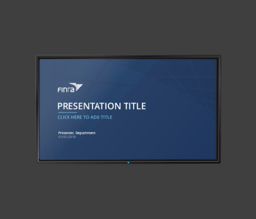 Corporate Presentation Template for FINRA   UX Design