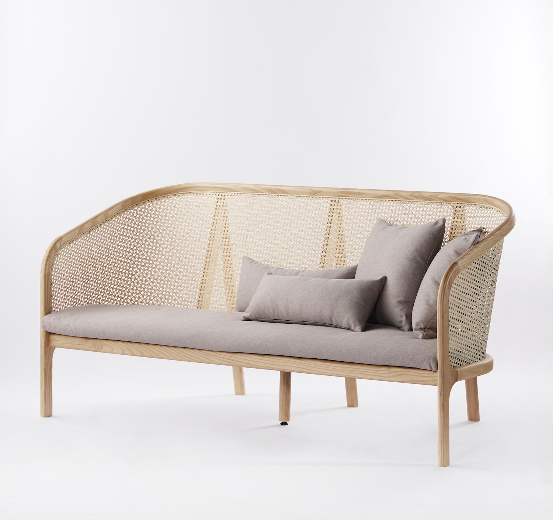 Cane Sofa - 01