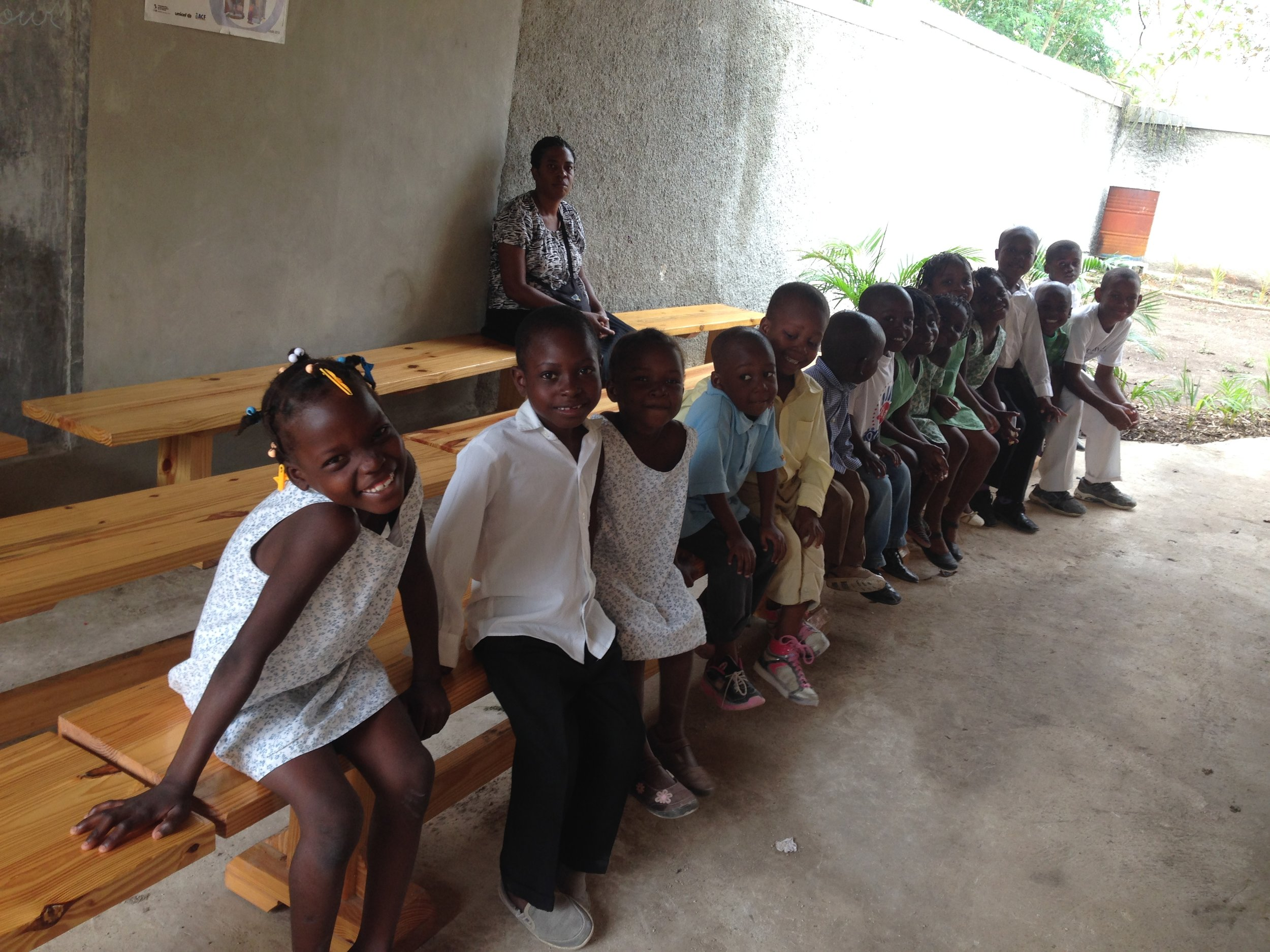 Children from an orphanage visiting the clinic -