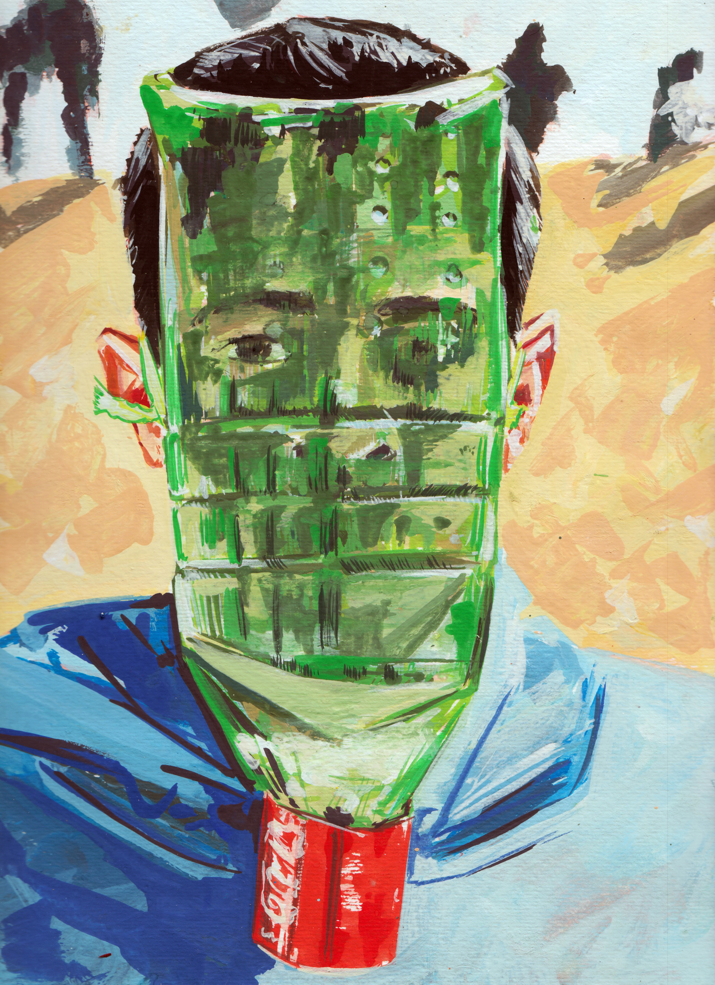 Elad Larom, VOODOOCHILD (series), 2018, gouache on paper_10, 30X23 cm.jpeg