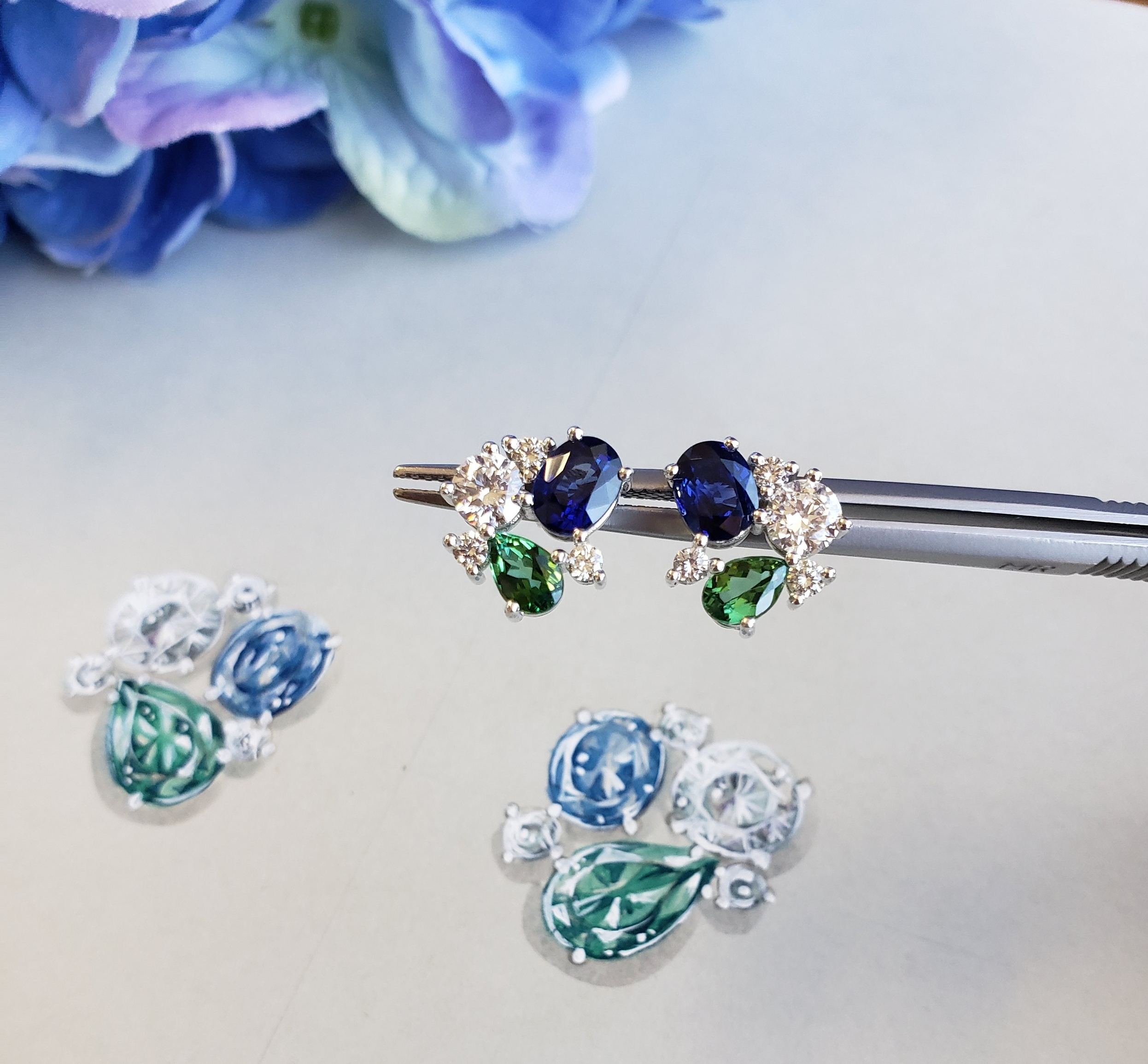 Step 3: We design - From concept to creation, Bonnie will design and source the diamonds and gemstones needed to bring your dream piece to life. Once approved in person or virtually, our master jewelers will begin crafting your piece.