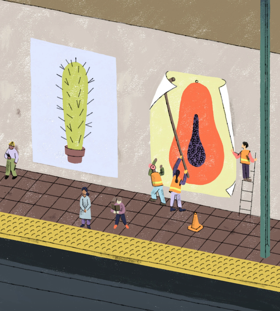 """I, for one, am fine with walking onto the subway and seeing giant penises obscured as cactuses; I would simply like to see some papayas alongside them."" - -Jackie Rotman, image credit Sophia Foster-DiminoREAD MORE"