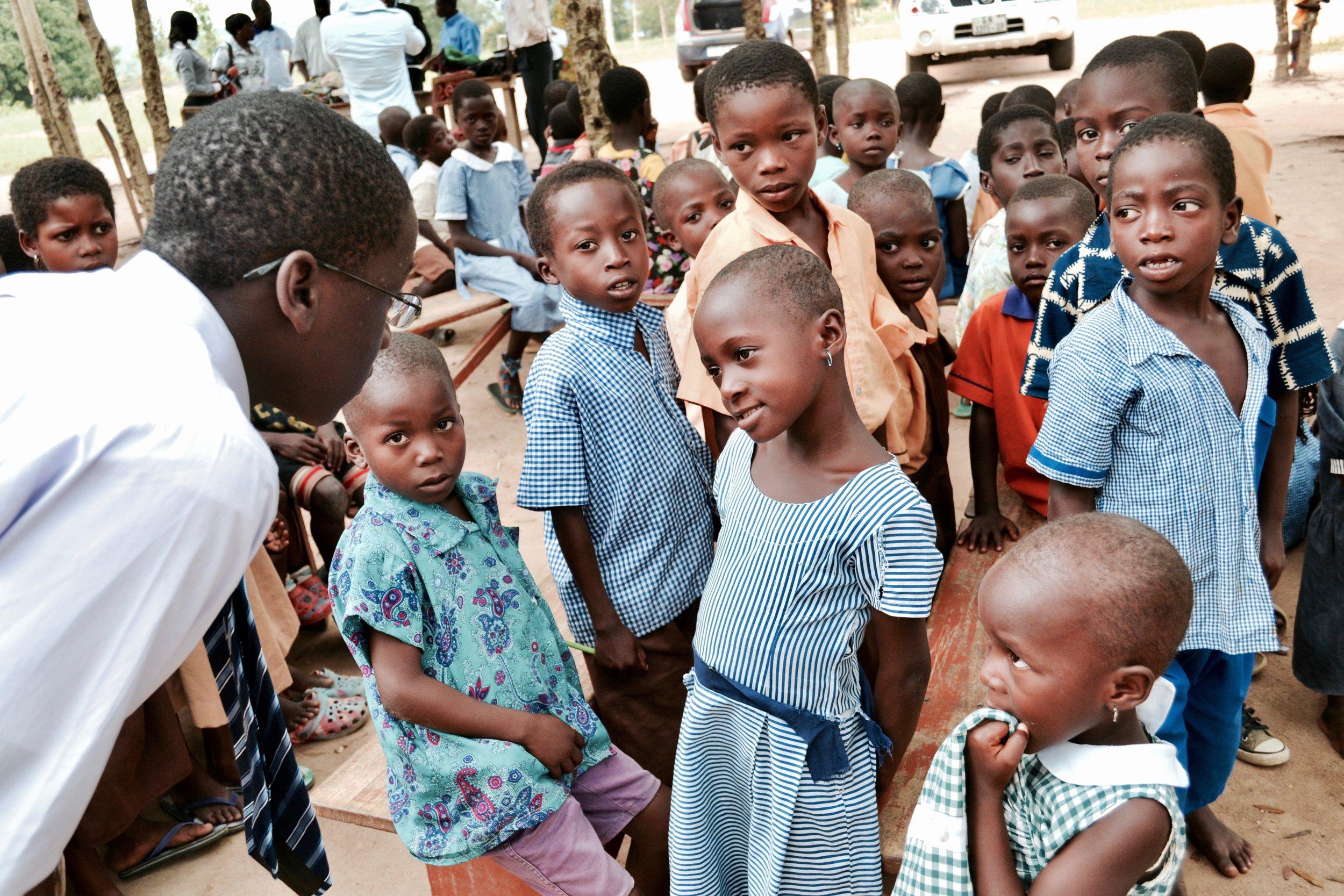 Students at Tikobo II Elementary School
