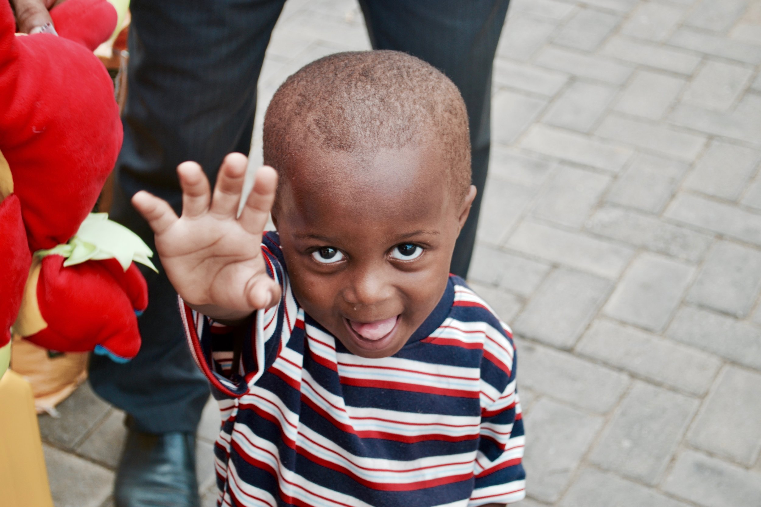 A child at Hobor Orphanage during a trip to Ghana in 2011