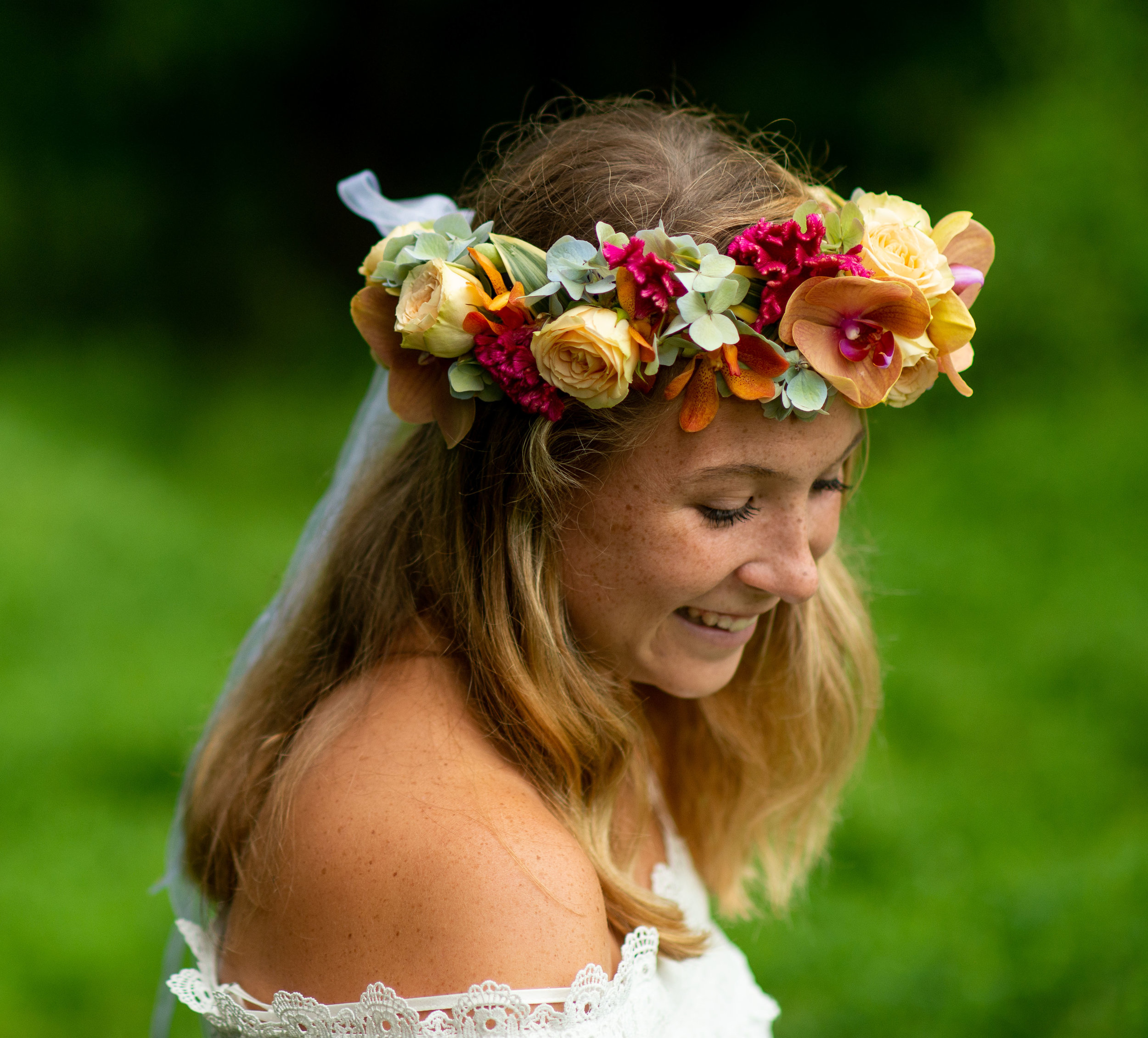 Floral wreath by Grapewood Florals