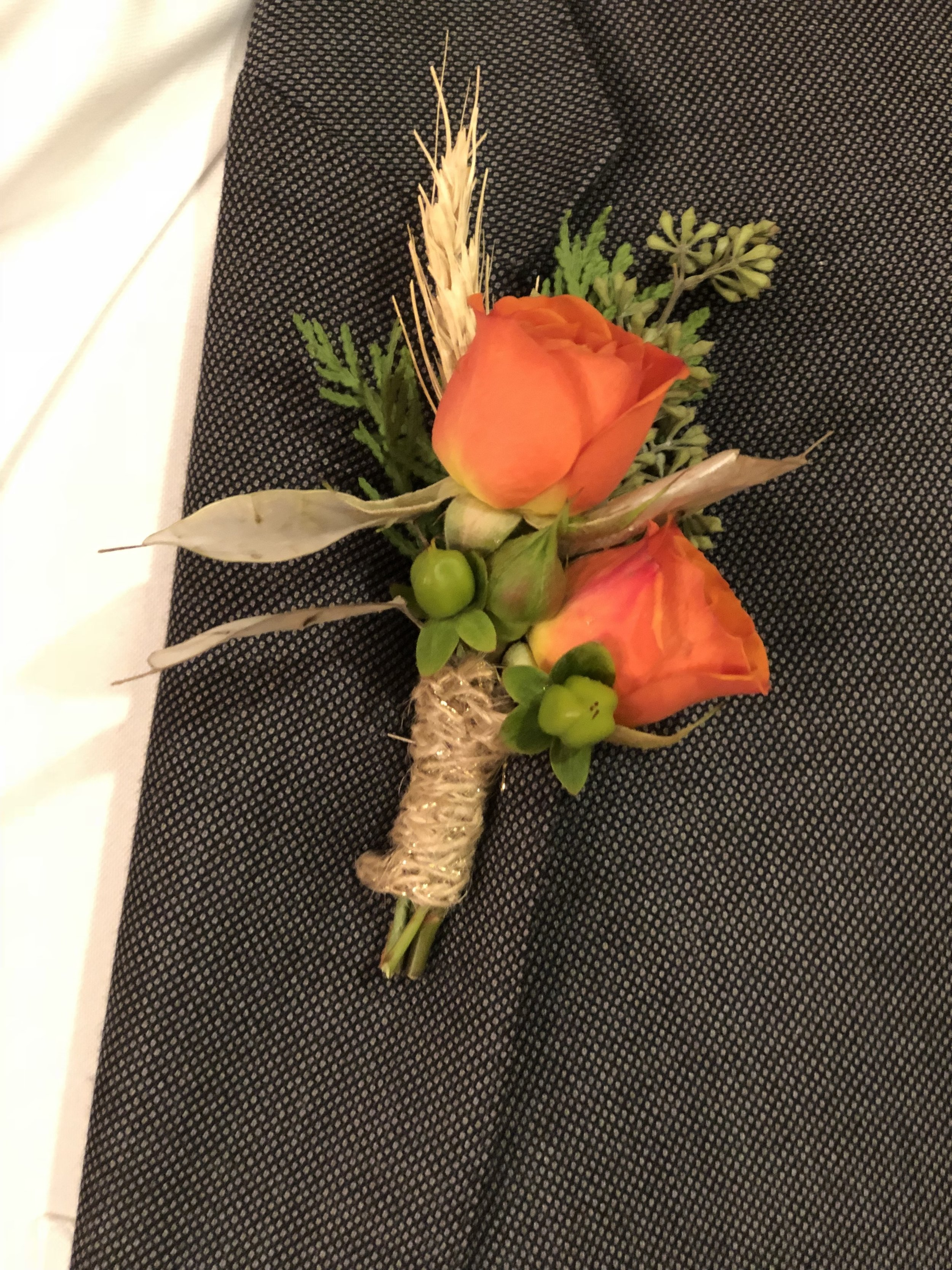 Boutonniere by Grapewood Florals