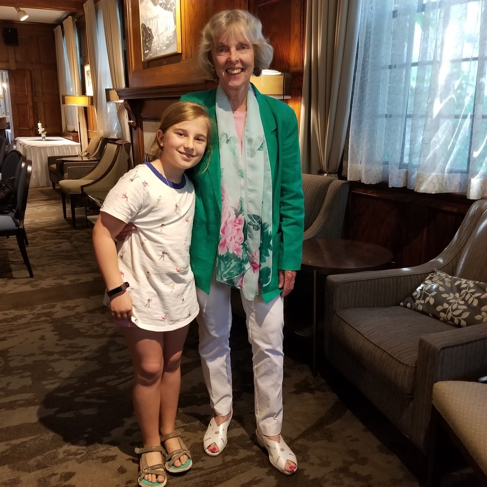 Ann Birch with her granddaughter Lee Birch