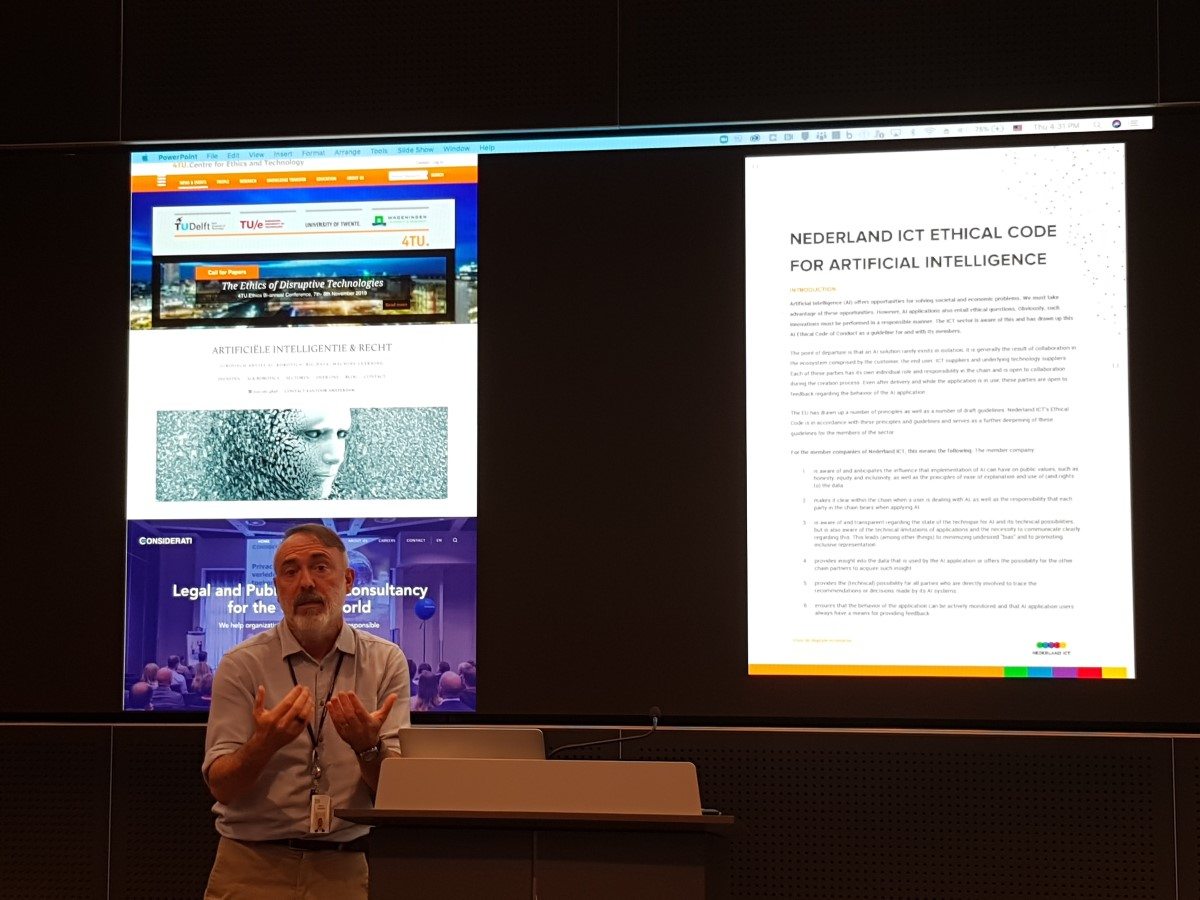 At IBM Watson, Nicola Palmarini included our AIRecht.nl website in his presentation about the legal and ethical implications of AI. Thank you Nicola, you made our day!