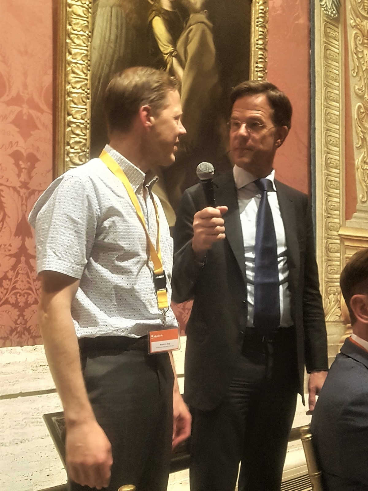 Prime Minister Mark Rutte and Mauritz Kop confer on exporting European ethical values to the USA via the Dutch AI Impact Assessment (ECP).