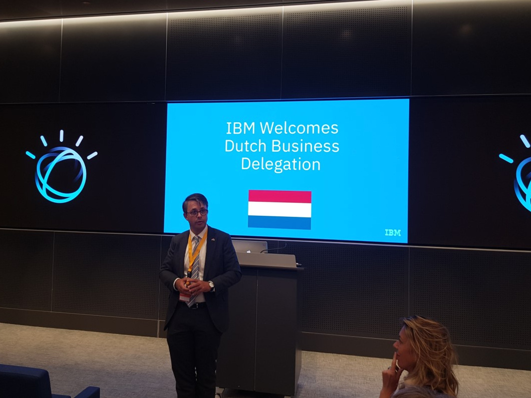 IBM Benelux CEO Peter Zijlema welcomed the Dutch Business Delegation at IBM Watson