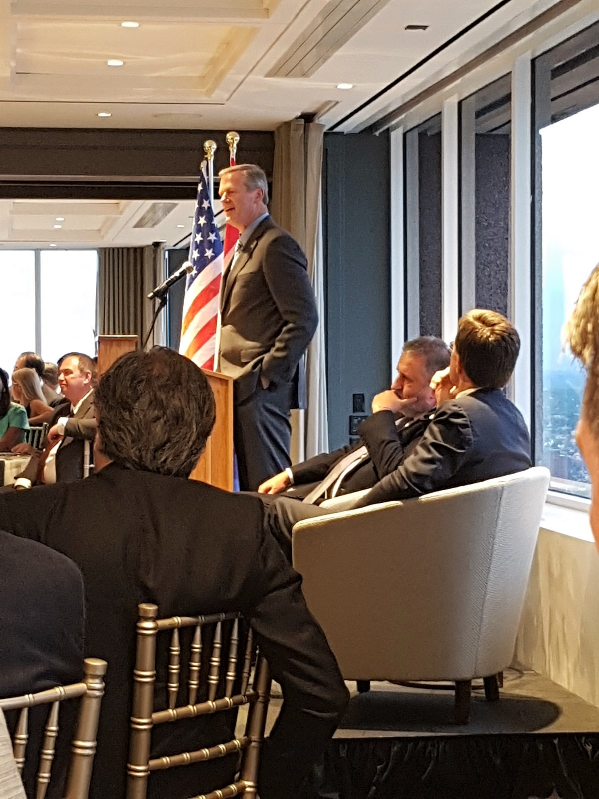 Governor Charles D. Baker during his speech at the Holland Trade Dinner