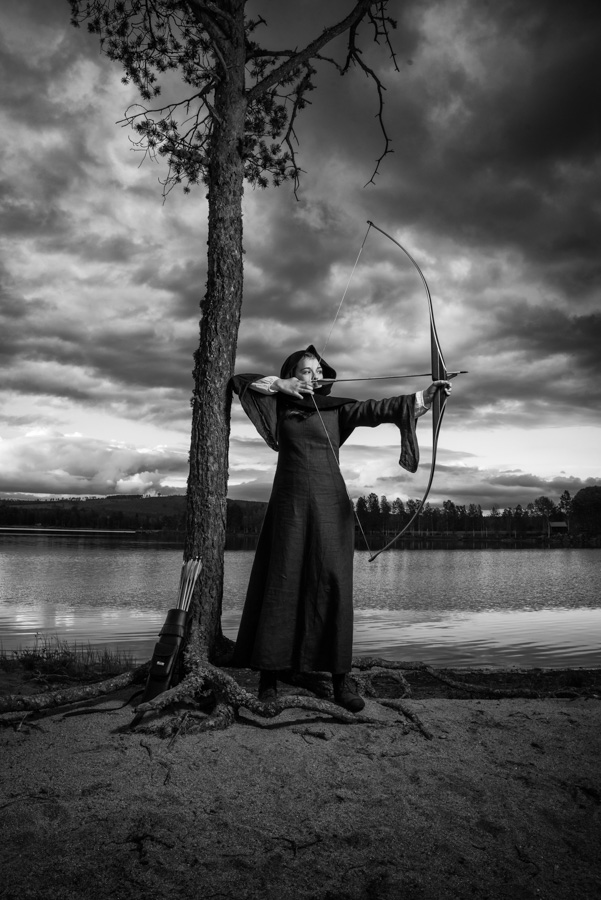 The Archer Girl. A photo that received: Gold medal from the Swedish Association of Photography (RSF) on RIFO2018 (Swedish Photo Exhibition 2018) by G. Grigoriadis