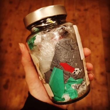Our April waste jar