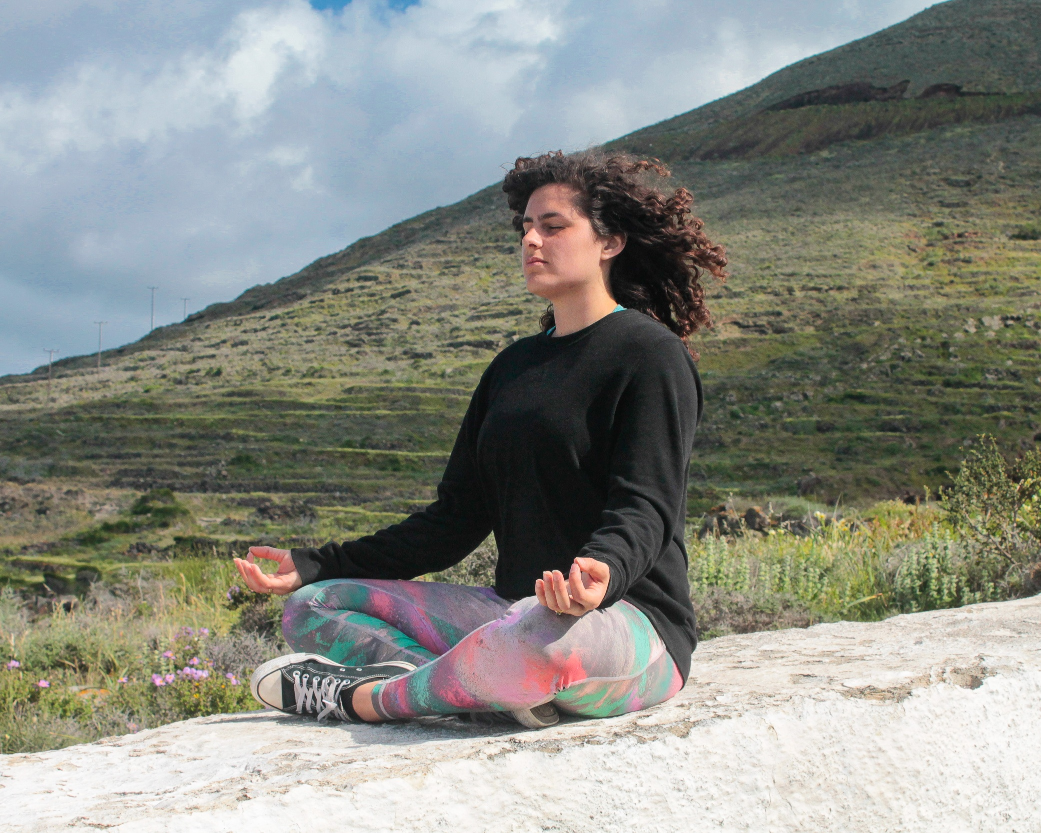 Meditation is a great way to achieved a sense of calm