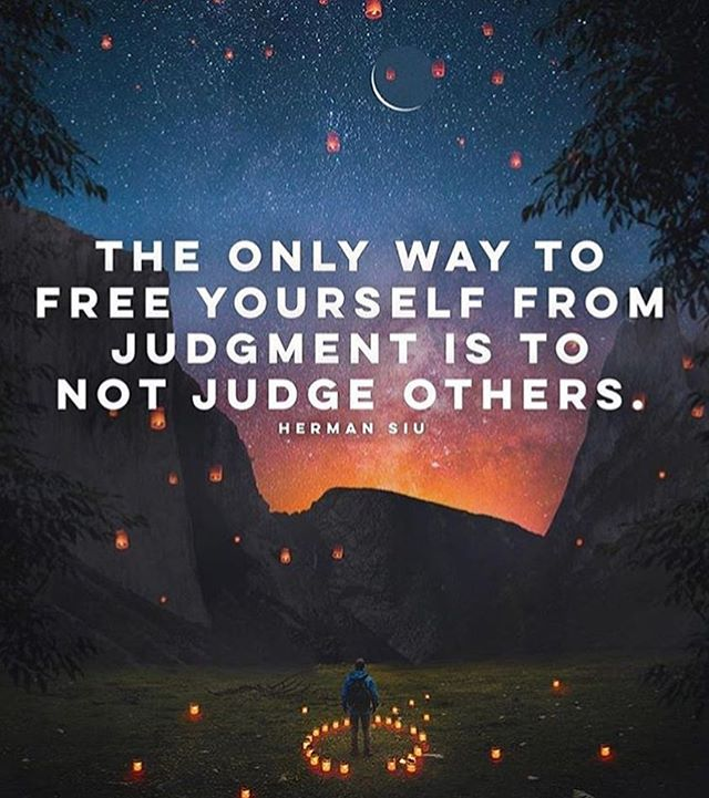 Free yourself from judgement 🙏🏻
