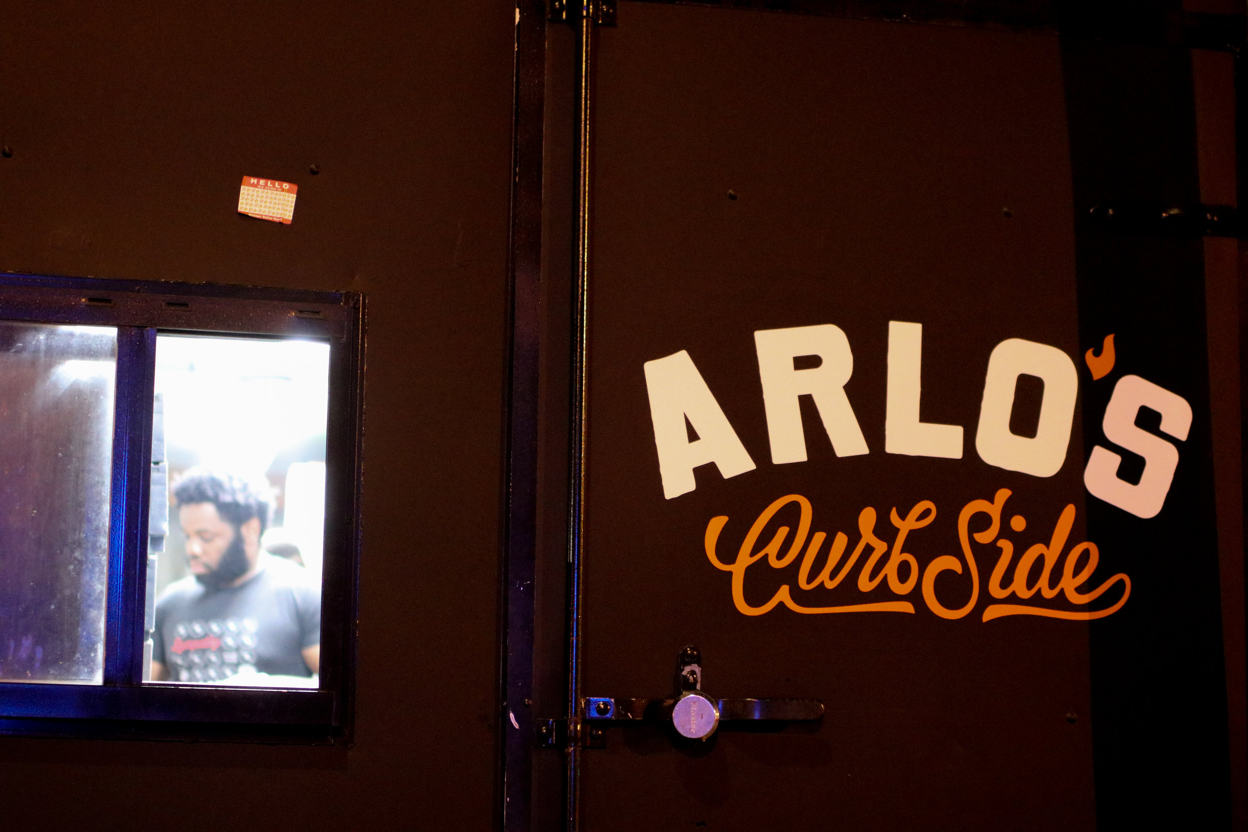 Arlo's Curbside Kitchen, a plant-based food truck serving comfort food right outside of Cheer Up Charlies.