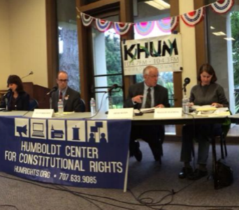 A candidate's debate on Free Speech issues - In 2014, HumRights brought the candidates for Humboldt County district attorney together to debate Free Speech issues.