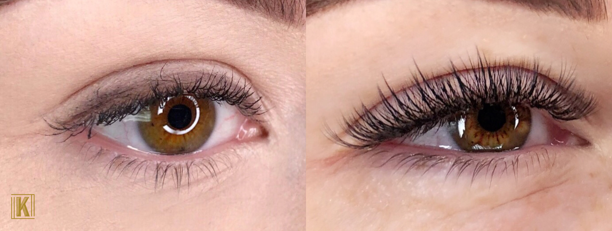 before / after - Hybrid Eyelash Extensions