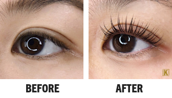 """The model is also wearing our GEL Keratin Mascara for an ultra defined """"wet"""" lash look."""