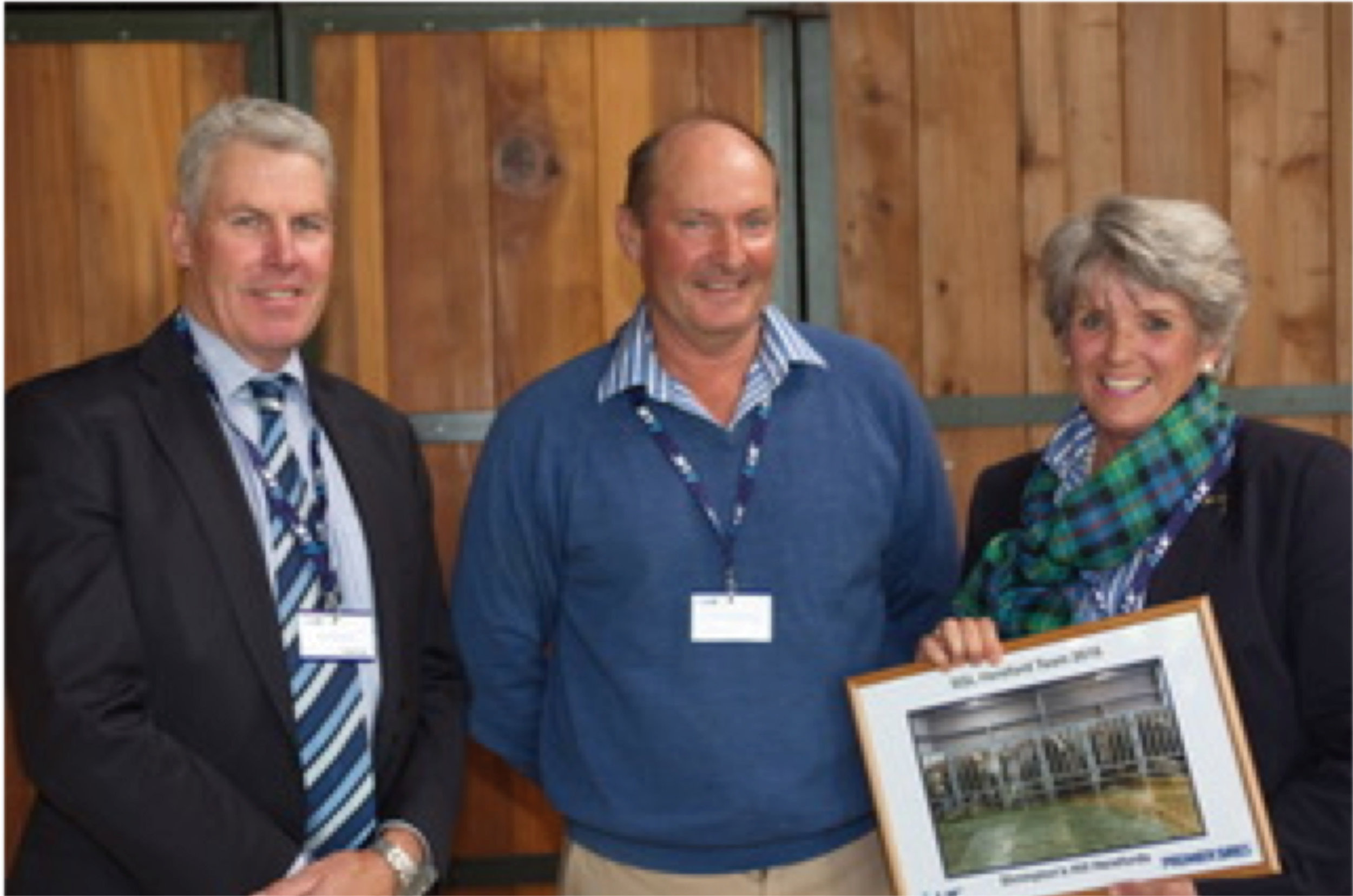 Murray King, LIC Chairman, John McKerchar, Liz McKerchar at LIC's Breeders' Day Presentations in Hamilton