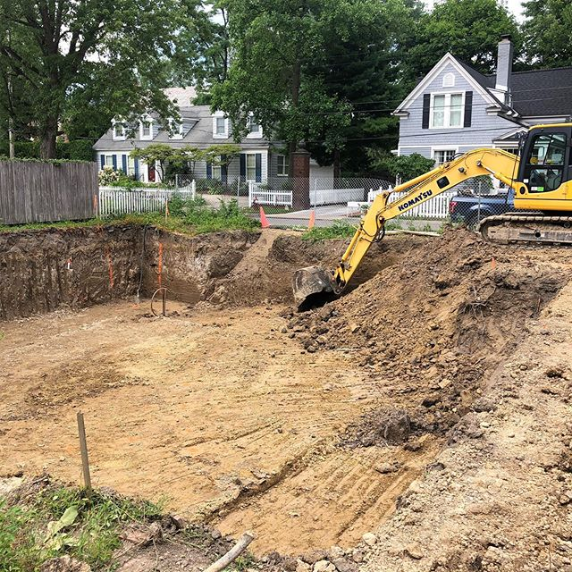 The big dig is in full swing at our new house! Stay tuned for updates. Next phase is setting the forms for the concrete walls. #construction #concrete #custom #newhomeconstruction #detroit