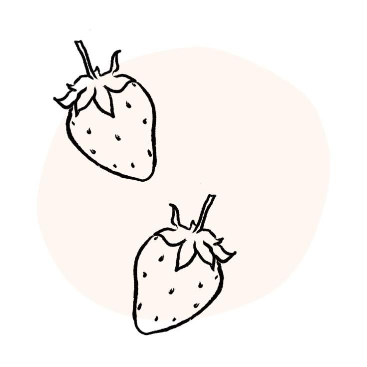strawberry-illustration-pink-blob