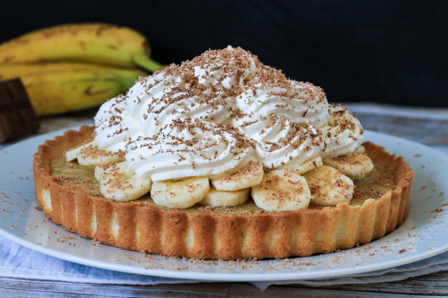Banoffee Pie with Salted Shortbread Crust
