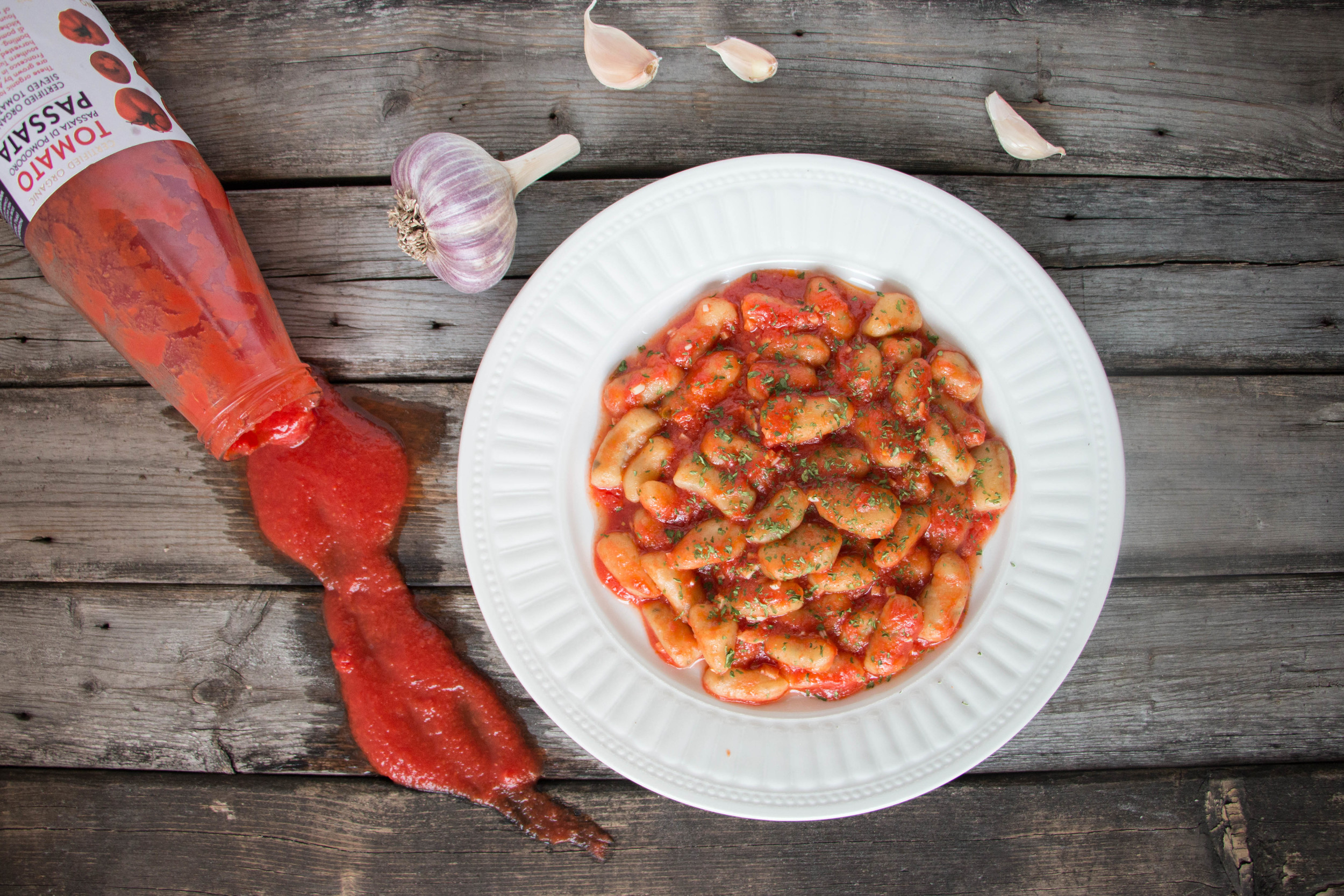 Ricotta Gnocchi with Simple Marinara Sauce