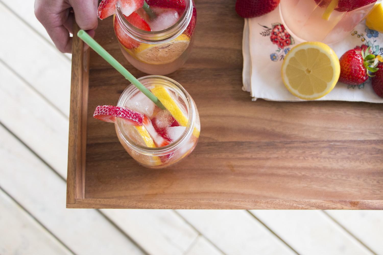 Sparkling Strawberry Sangria