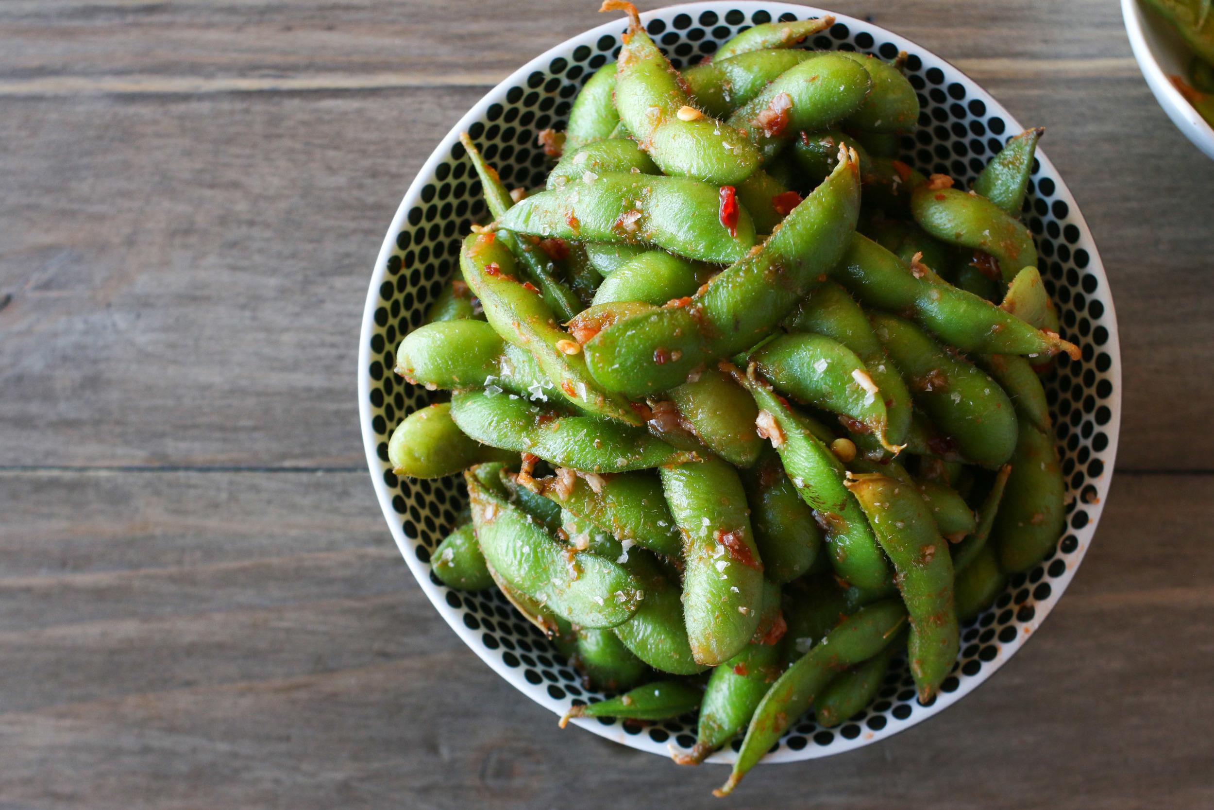 Chili Garlic Edamame Beans