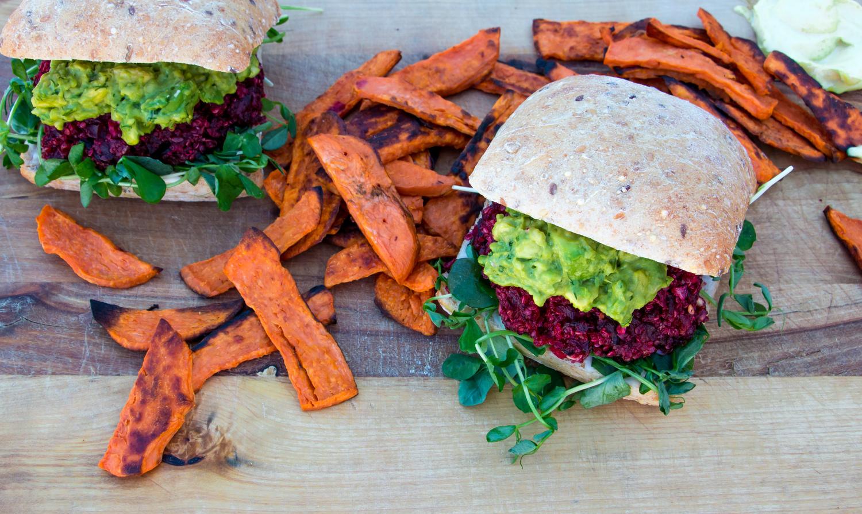Vegan Beet and Quinoa Burger