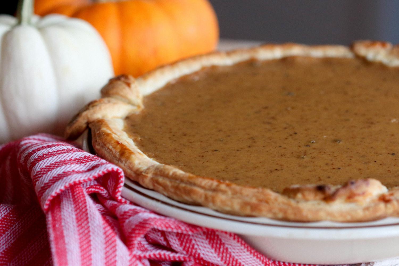 Pumpkin Pie with Homemade Pumpkin Puree