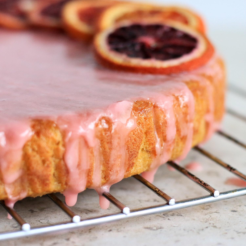 Healthy Blood Orange Cake