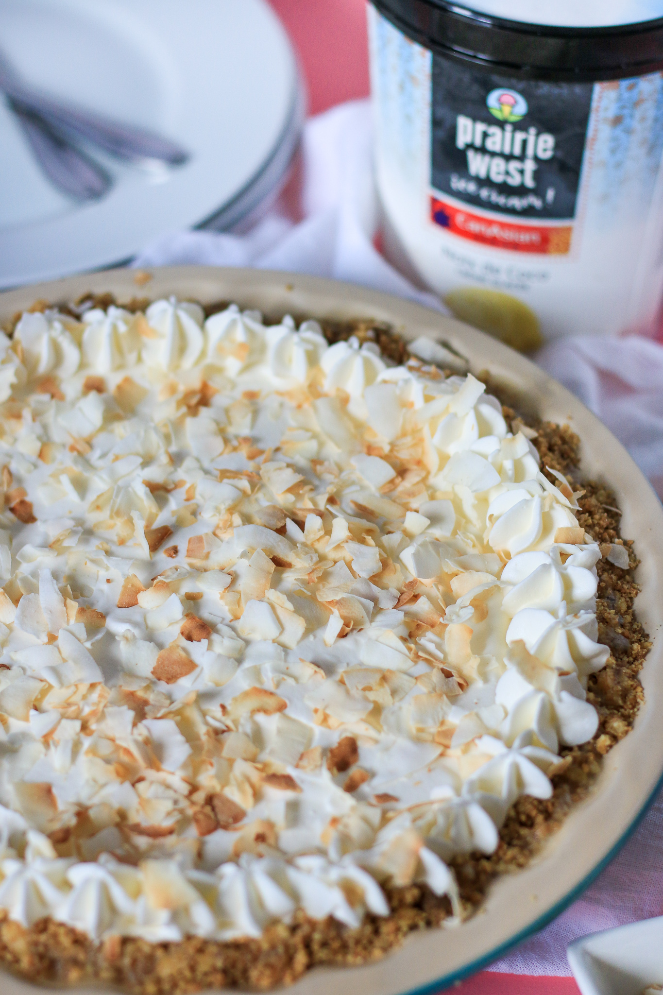 No Bake Coconut Walnut Ice Cream Pie