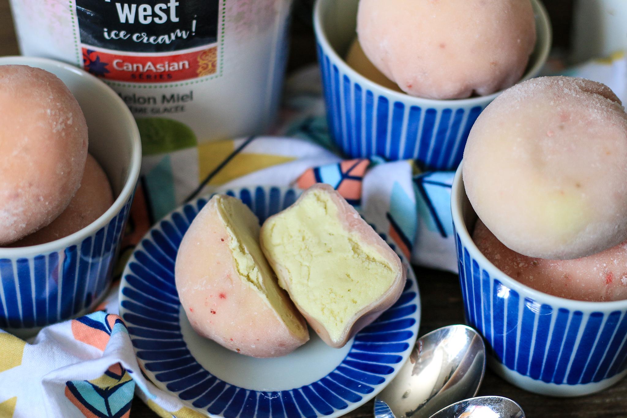 Strawberry Mochi Ice Cream